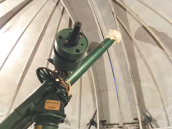 Реставрация старинного семидюймового телескопа Гейде сейчас находится в завершающей стадии